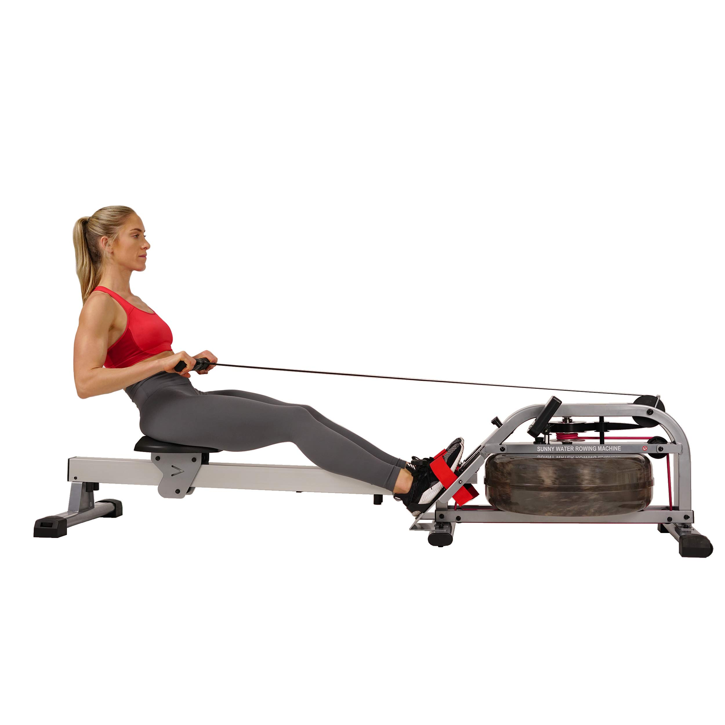 Sunny Health & Fitness Water Rowing Machine Rower w/LCD Monitor - SF-RW5866 by Sunny Health & Fitness (Image #2)