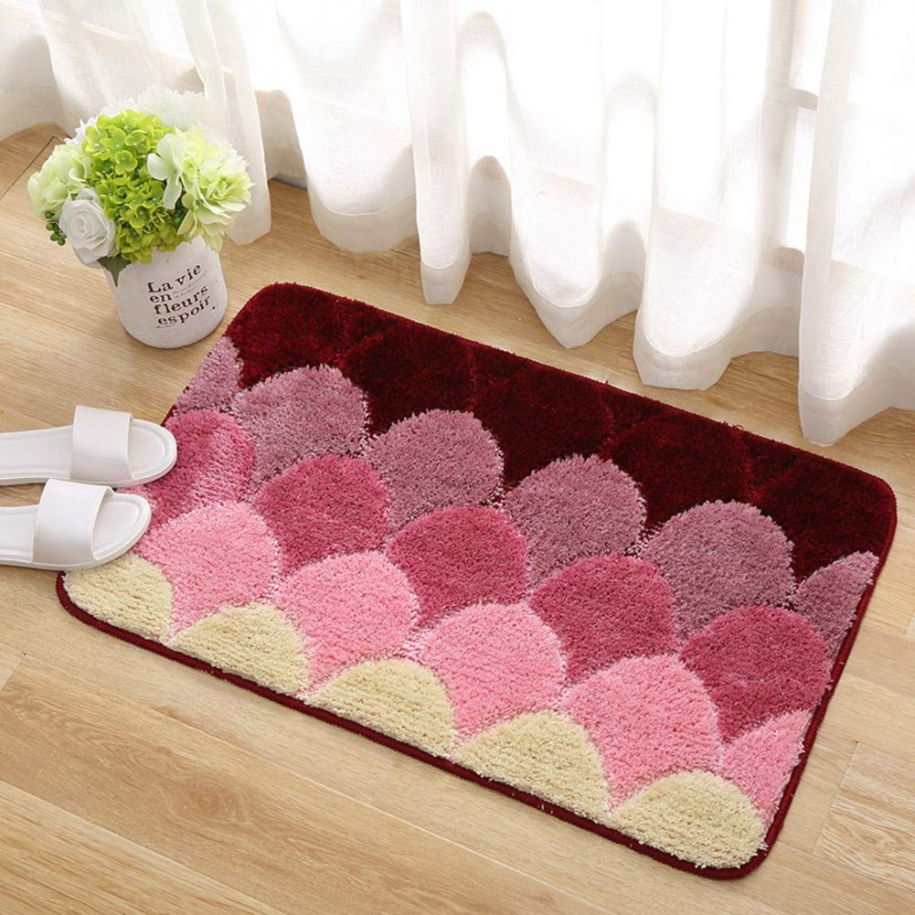 Red 80x150cm(31x59inch) Entrance Doormat,Blanket for Bedroom Microfiber Anti-skidding Easy to Clean Carpet Decoration-bluee 80x120cm(31x47inch)