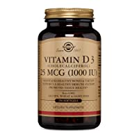Solgar Vitamin D3 (Cholecalciferol) 25 mCG (1000 IU) Softgels - 250 Count