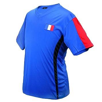 MC-Trend Francia France Fútbol Camiseta Azul de fútbol Copa del Mundo Unisex, Large