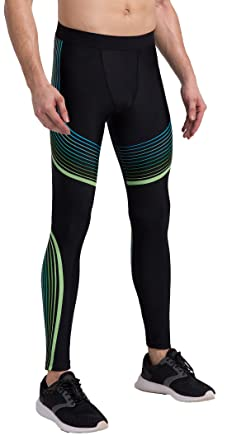63fc2b86d8b50 ... Long Running Training Rugby Basketball Fitness Base Layer Gym Pants  Thermal Long Sport Gear Performance Black Leggings S M L XL: Amazon.co.uk:  Clothing