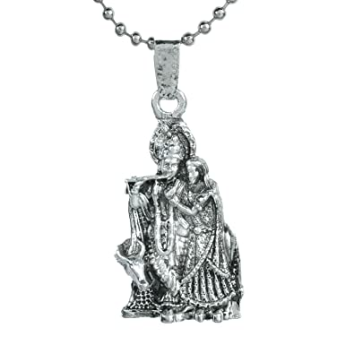 Buy memoir silver plated lord radha krishna religious god pendant memoir silver plated lord radha krishna religious god pendant with chain locket necklace temple jewellery aloadofball Gallery