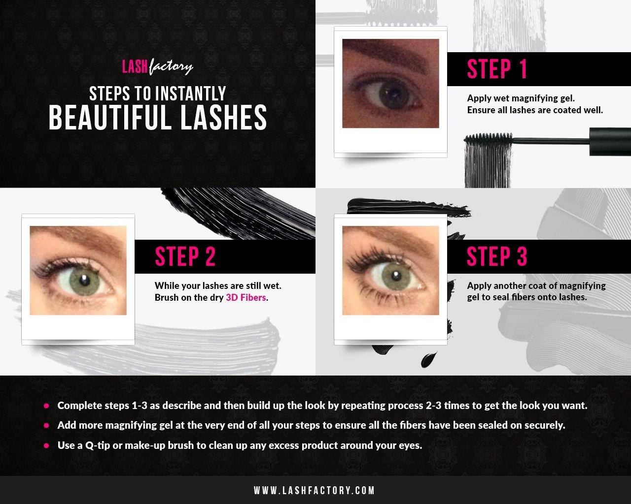 6d9465ca047 Amazon.com : 3D Fiber Mascara by Lash Factory - Infinity 3D Fiber Lashes.  Waterproof & Volumizing, Simply The Best 3D Lashes, Unique Formula For Your  Makeup ...
