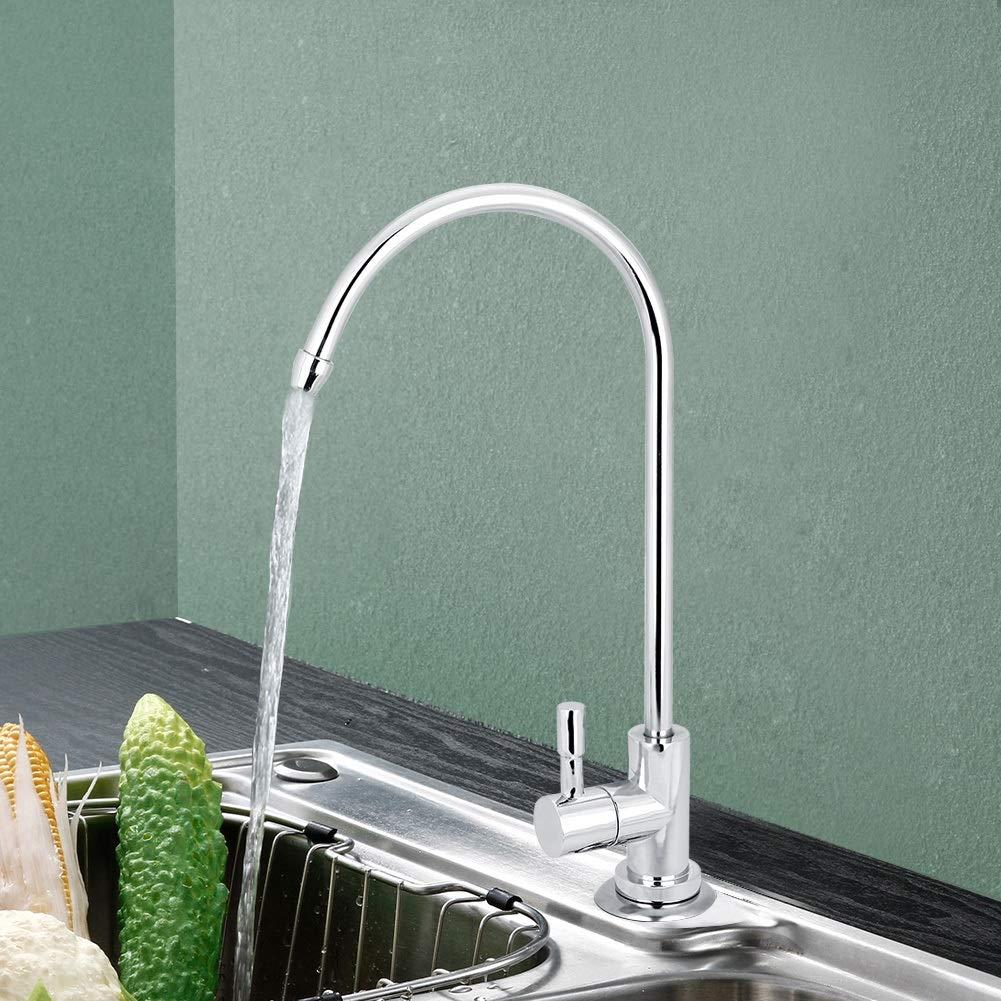 Hazmemejor Filtro de Agua Potable 1//4  Aleaci/ón de Zinc Grifo de la Cocina Grifo Cromado Osmosis inversa RO Filtro de Agua Potable