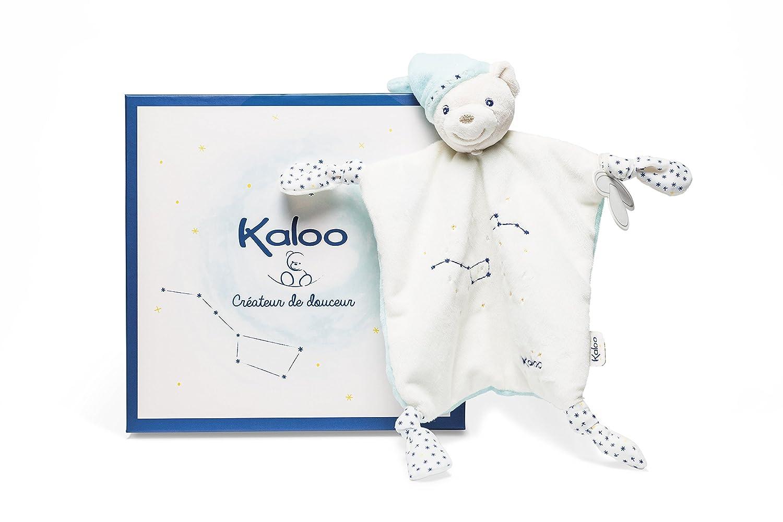 Beige//Bleu Kaloo Doudou Noeuds Petite Etoile Peluche Ours K960296