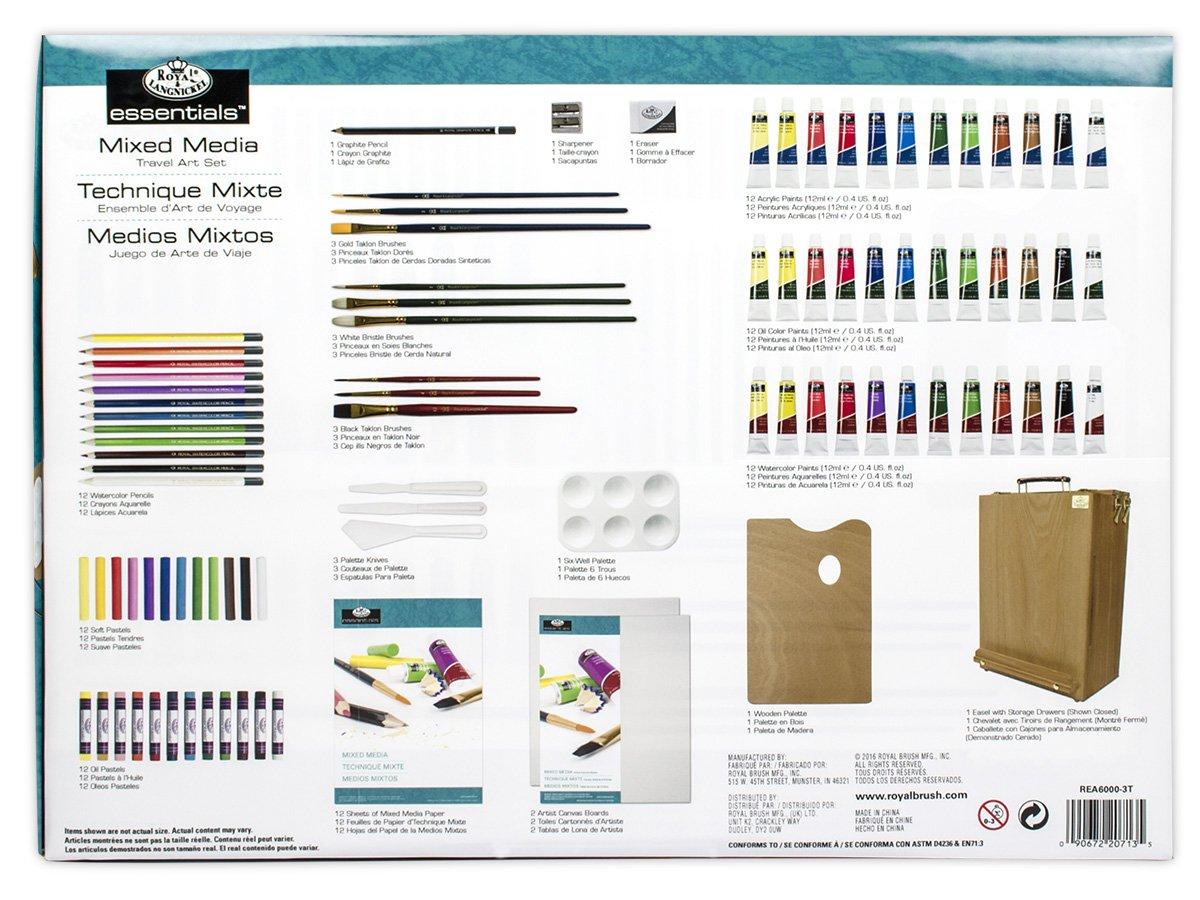 Royal /& Langnickel Set de Artista Caballete para Todos los usos 104 Piezas Royal Brush REA6000