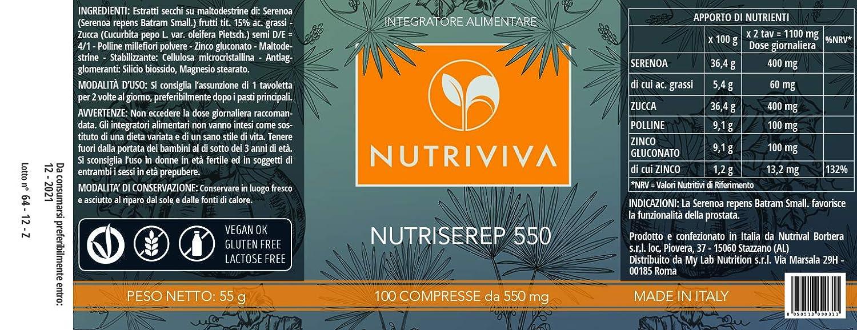 NUTRIVIVA - NUTRISEREP 500 | 100 comprimidos de 550 mg | Para el ...