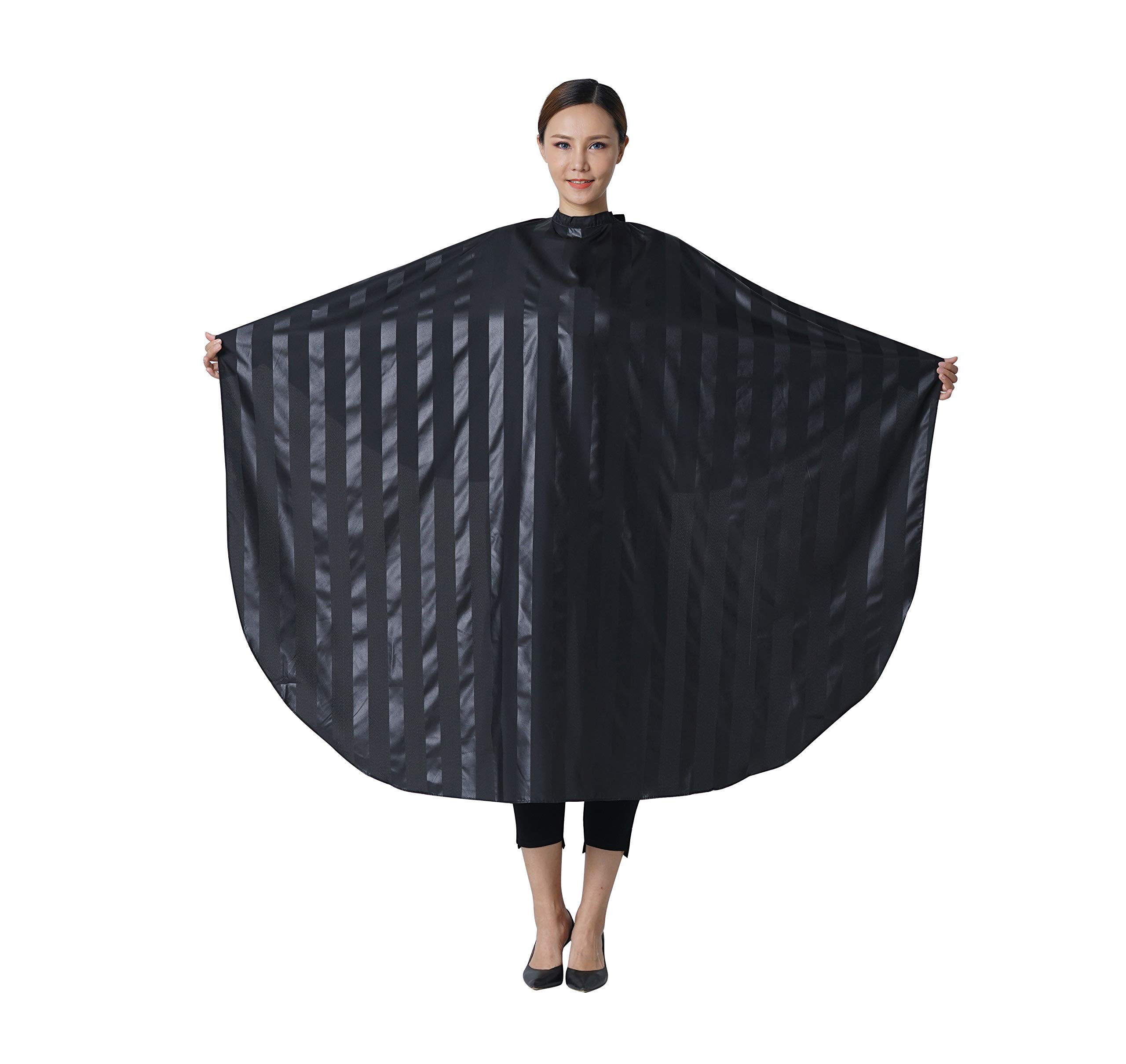 SMARTHAIR Professional Salon Cape Polyester Barber Cape Hair Cut Cape,54''x62'',Black,C035001C by SMARTHAIR