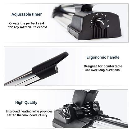 Zentesi Impulse - Sellador de calor (400 mm, profesional, para sellar alimentos, lotes, bombas de baño/accesorios con 25 bolsas termorretráctiles): ...