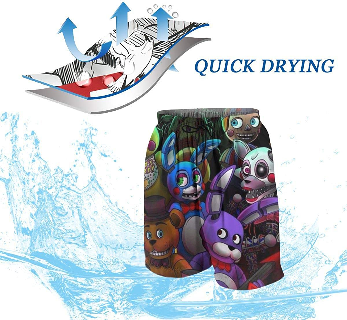 Beach Board Shorts Volleyball Swim Trunks for Youth Kids Boys Girls