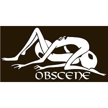 Alien obscene vinyl sticker decal white 8
