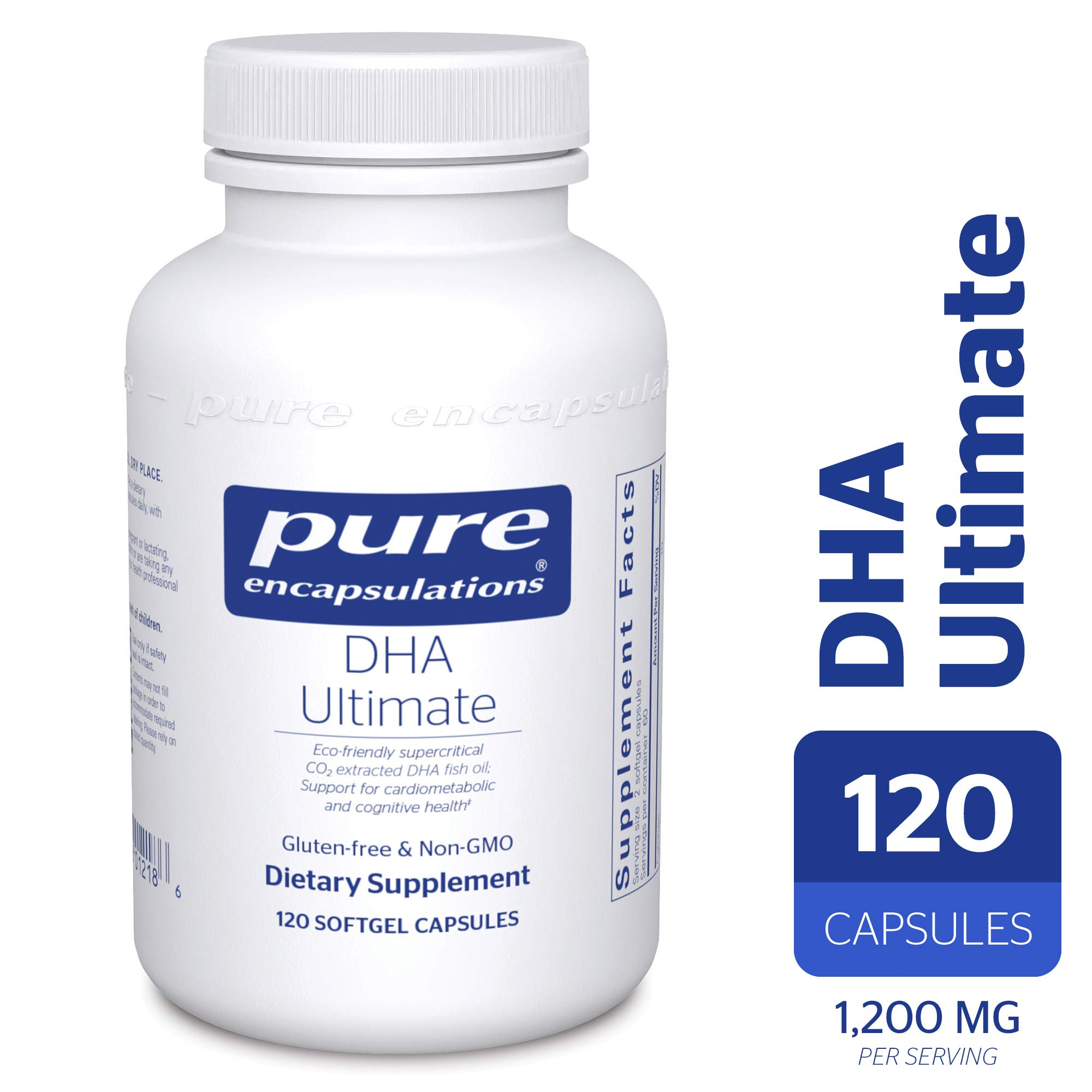 Pure Encapsulations - DHA Ultimate - Eco-Friendly Supercritical CO2 Extracted DHA Fish Oil Concentrate - 120 Softgel Capsules by Pure Encapsulations