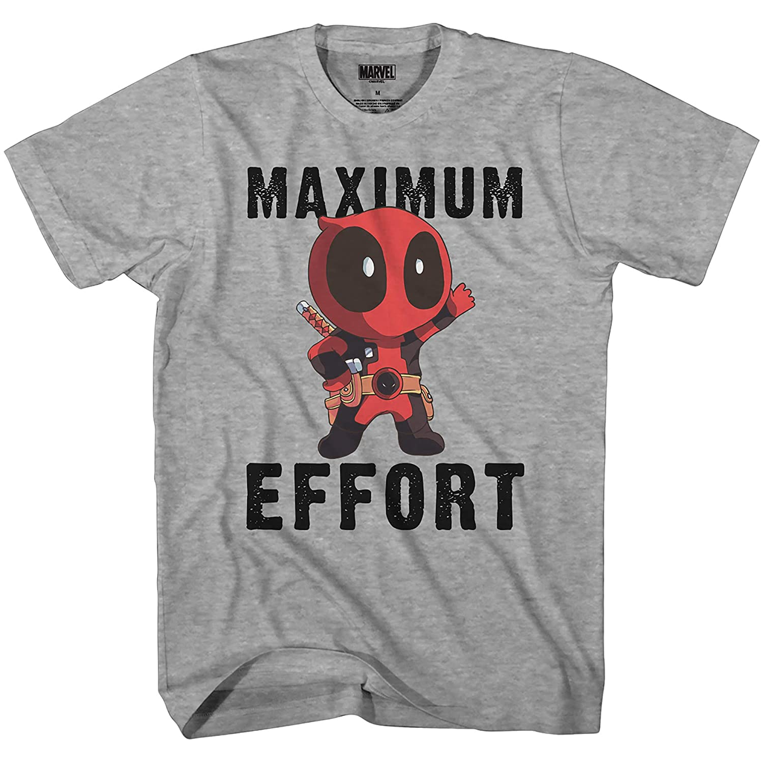 e6dc31d1b15f9b Amazon.com  Marvel Deadpool Chibi Maximum Effort Men s T-Shirt  Clothing