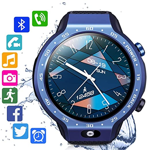 RENYAYA Sistemas Dobles 4G Sim Smart Watch Android 7.1 1,39 ...