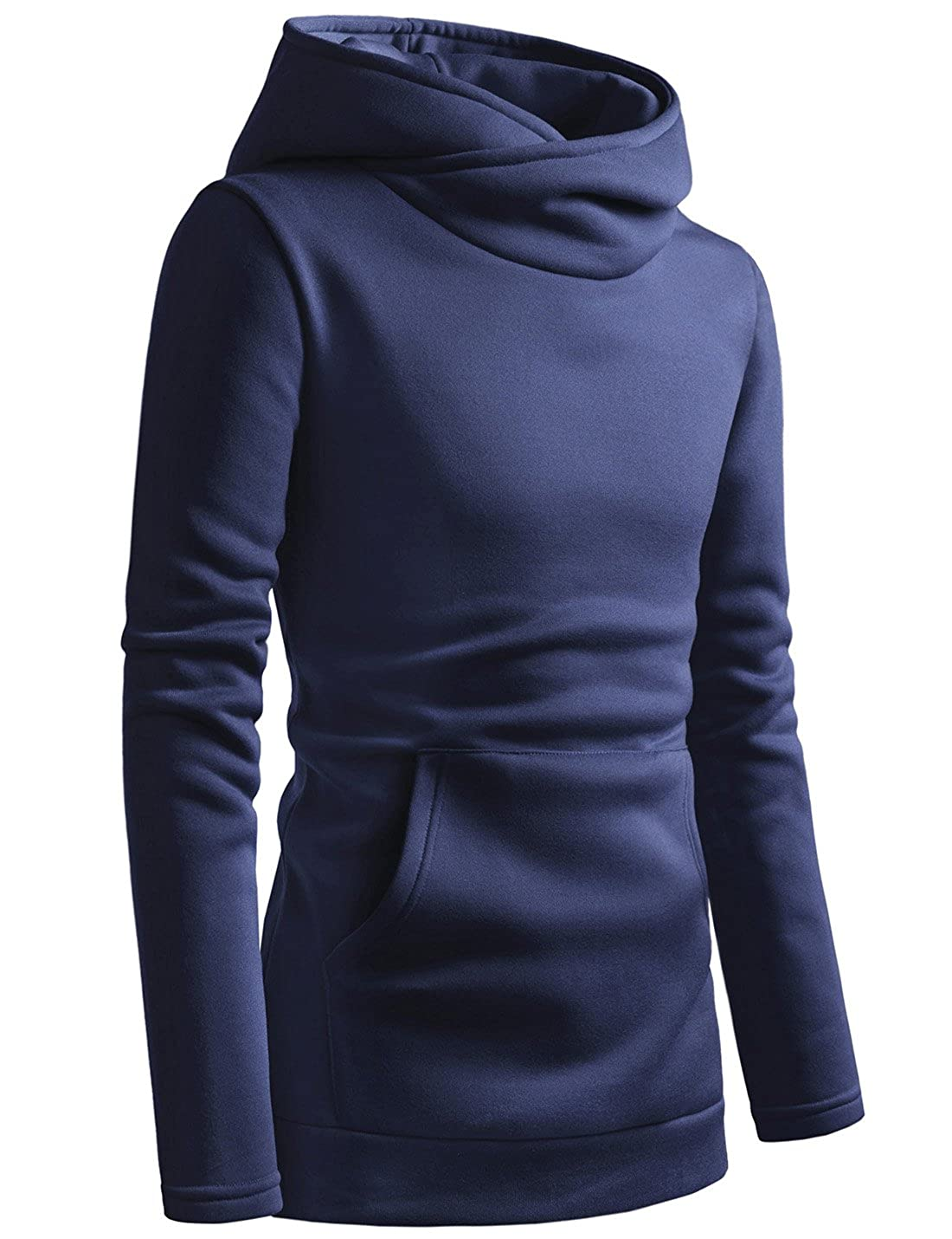 TheLees Kangaroo Pocket Pullover High neck Hoodie Fleece Sweatshirts at  Amazon Men's Clothing store: