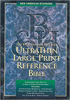 Holy Bible Ultrathin Large Print Reference Bible New