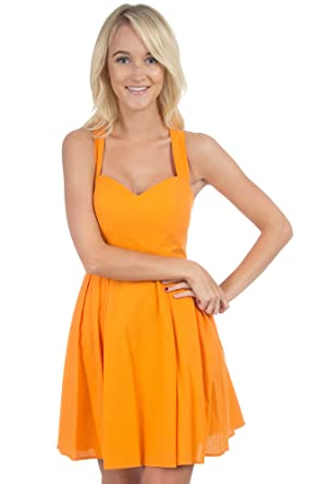 The Livingston Solid Seersucker Dress Orange L At Amazon Women S