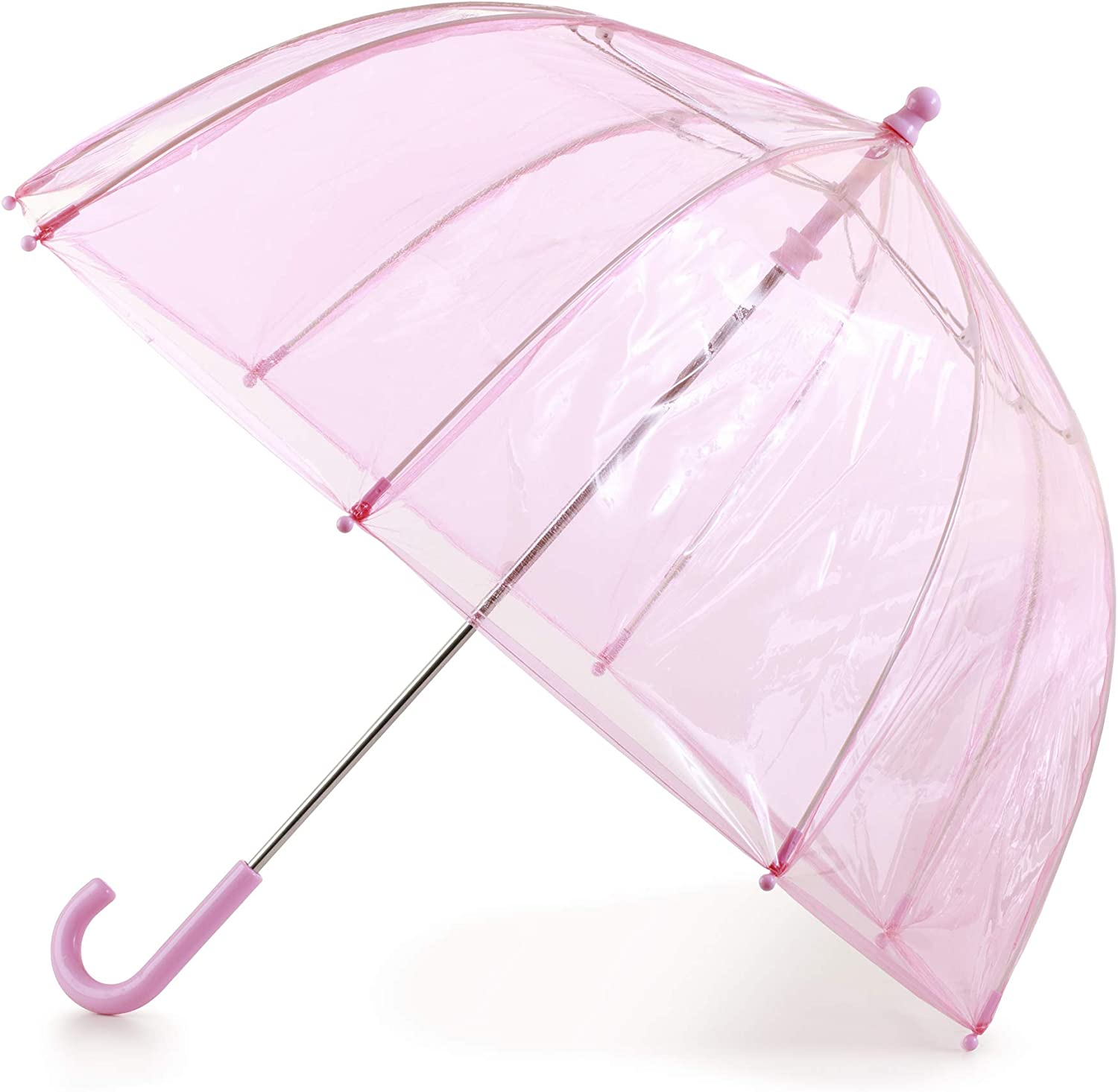 totes Girls Clear Bubble Umbrella, Pink, 38
