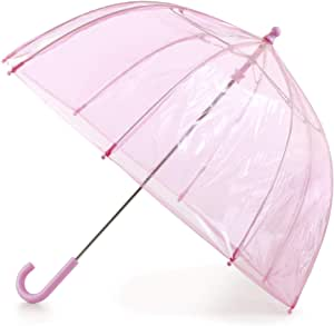 Girls Butterfly Umbrella Pink 100/% Polyester 24 In coverage 1-pack