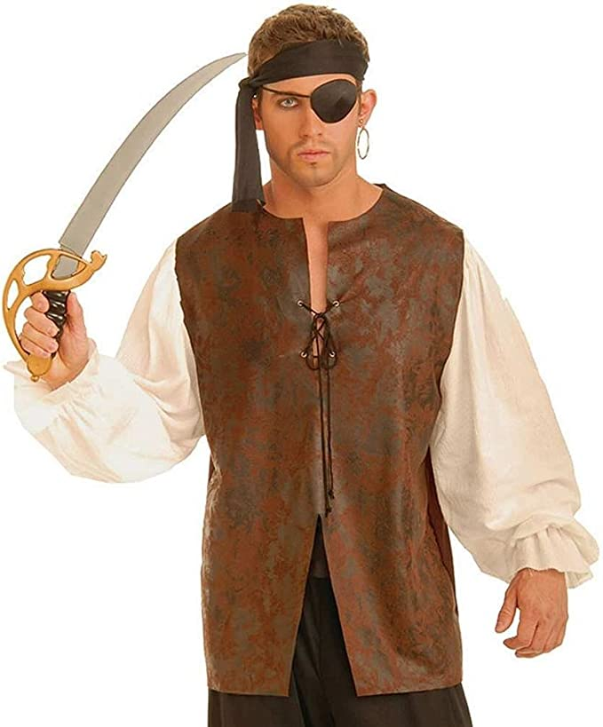 Men's Steampunk Costume Essentials Forum Novelties Mens Buccaneer Shirt Adult Costume Accessory $34.83 AT vintagedancer.com