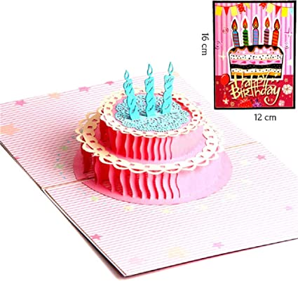 Bllomsem tarjeta felicitacion cumpleaños, 3D Pop Up Tarjetas ...