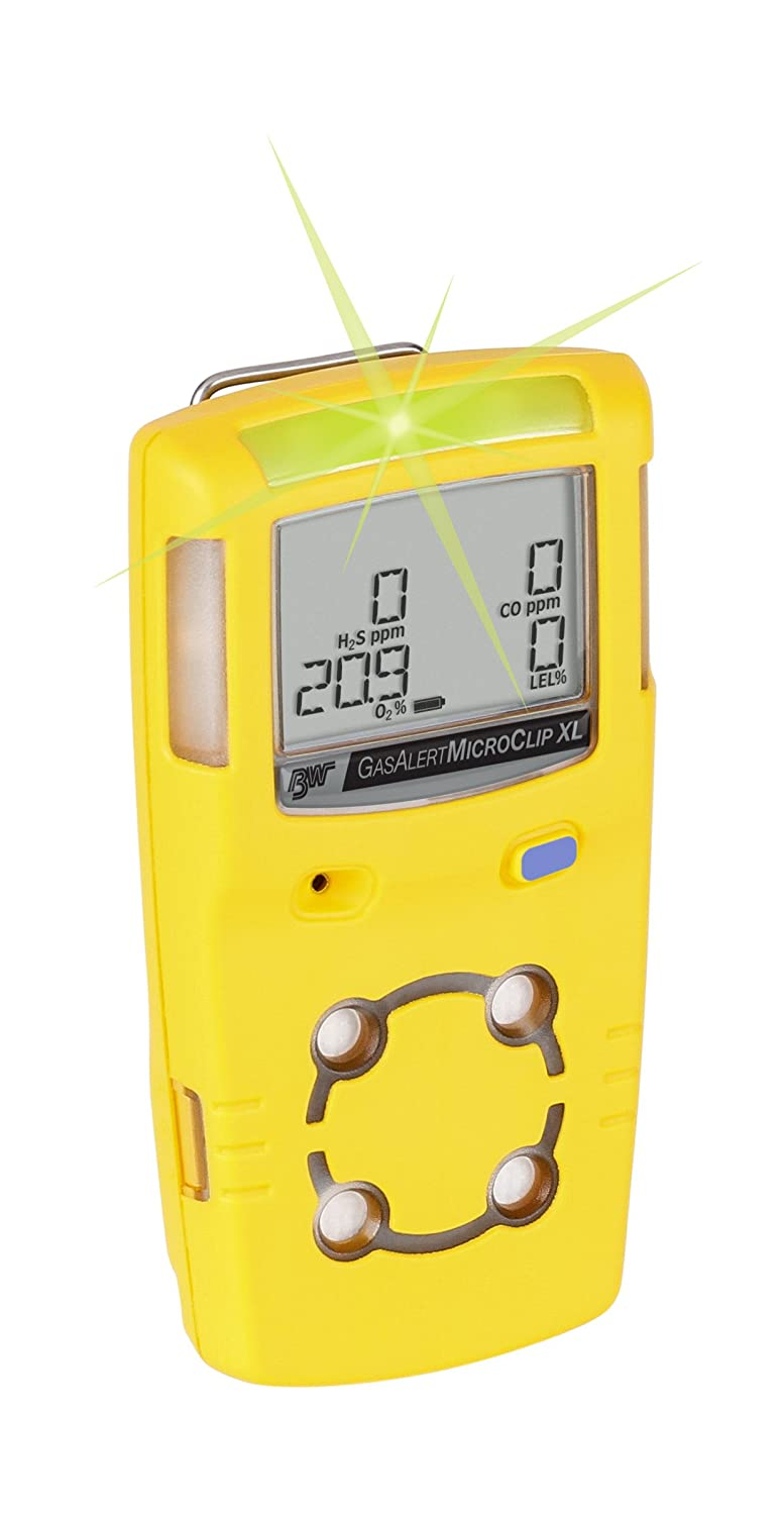 BW Technologies MCXL-XWHM-B-NA GasAlertMicroClip XL 4 Gas Detector, CO, H2S, LEL and O2, Black: Amazon.com: Industrial & Scientific