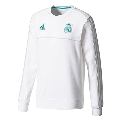 Amazon.com   adidas 2017-2018 Real Madrid Sweat Top (White)   Sports ... f3388f557be5