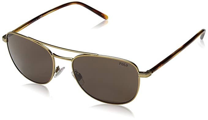 Ralph Lauren POLO 0PH3107 Gafas de sol, Semi Shiny Pale Gold ...