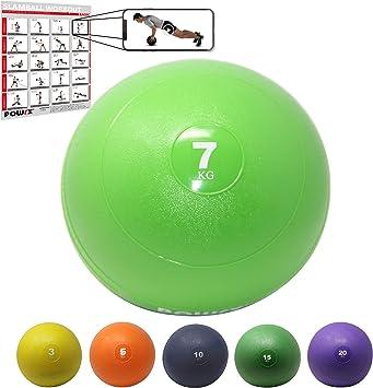 POWRX Slam Ball Balón Medicinal 7 kg - Ideal para Ejercicios de ...