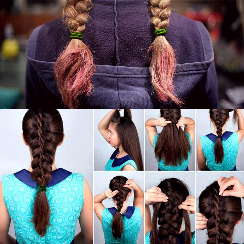 Cinta de cabello elástica monocromática, adecuada para una mujer o ...