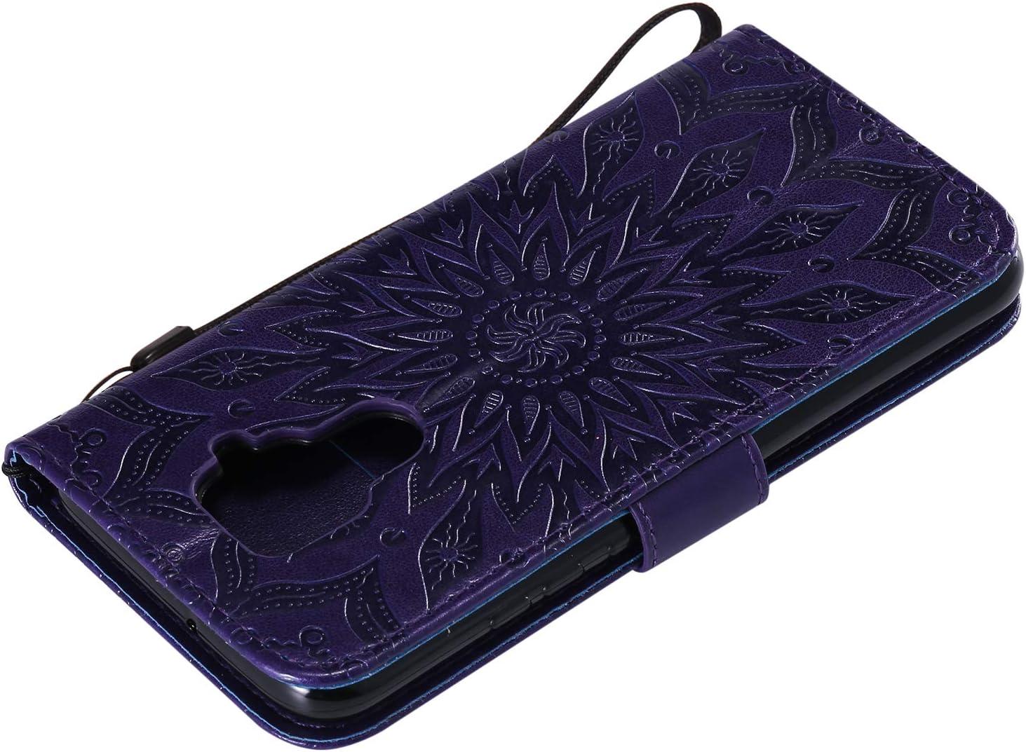 NEXCURIO Wallet Case for Huawei Mate 30 Lite//nova 5i Pro with Card Holder Side Pocket Kickstand Shockproof Leather Flip Cover Case for Huawei Mate30 Lite NEKTU020538 Blue