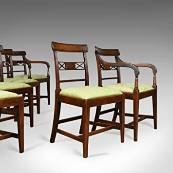 London Fine Antiques Lot De Six Chaises De Salle A Manger Antique