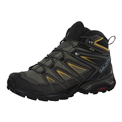 Salomon X ULTRA 3 MID GTX - Walking boots - castor gray/black/green sulphur JSMioHYfsE