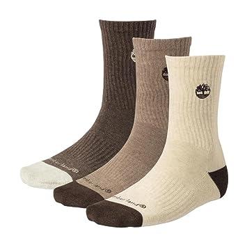 Timberland Earthkeepers para hombre 3 par Pack Mezcla Algodón Acolchado calcetines j0147 – 959, hombre
