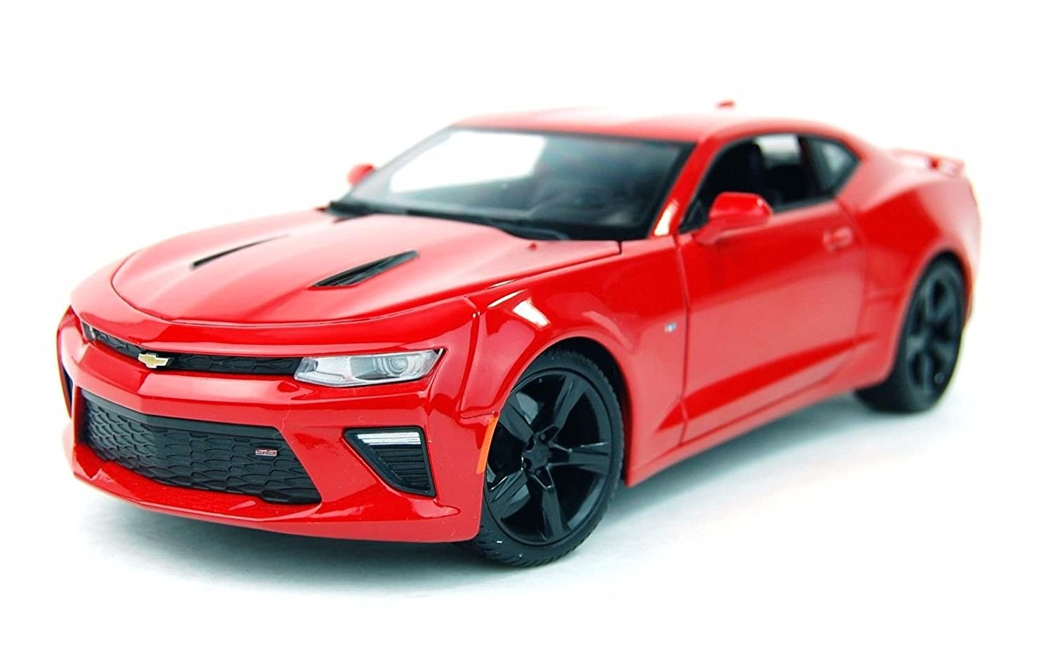 New 1 18 W B SPECIAL EDITION RED 2016 Chevrolet Camaro SS Diecast Model Car By Maisto