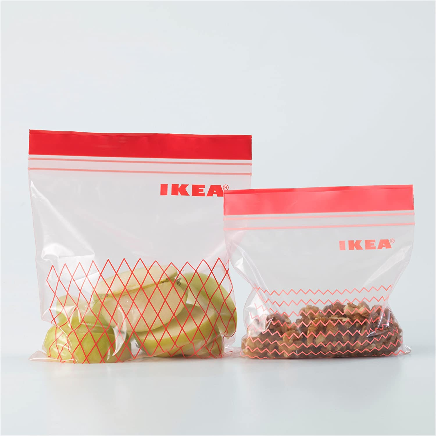 and 30 Bags 0.4 l 1 l 3 x ISTAD Plastic Bag Red Pack of 60 Can be Used Over and Over Again Since it can be re-Sealed. Comprises: 30 Bags