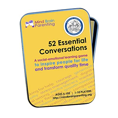 52 Essential Conversations: The Life Skills Card Game for Children and Adults - Builds Social Emotional, Critical Thinking, Growth Mindset & Vocabulary Skills - Created by Harvard Educators: Toys & Games