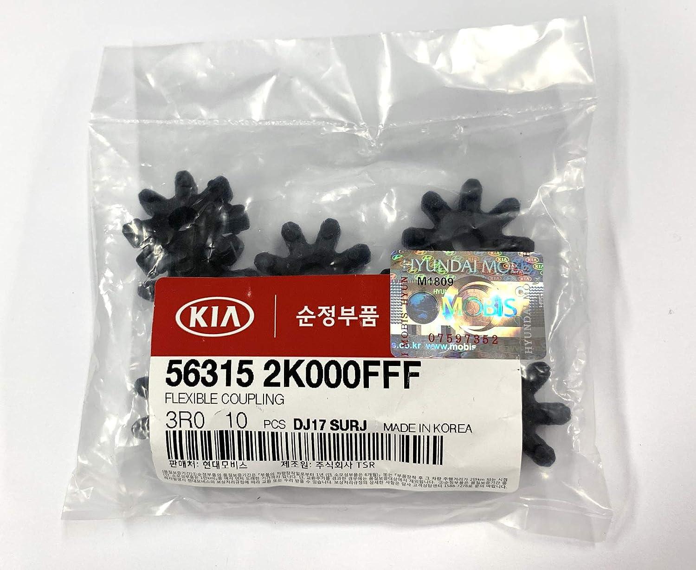 HYUNDAI Genuine OEM Flexible Coupling 56315-2K000FFF 10 Pcs Retail Package Mobis Hyundai Mobis MDPS Clunk Noise Rubber Flex Coupler Repair for Hyundai//Kia Cadenza Forte Optima Soul