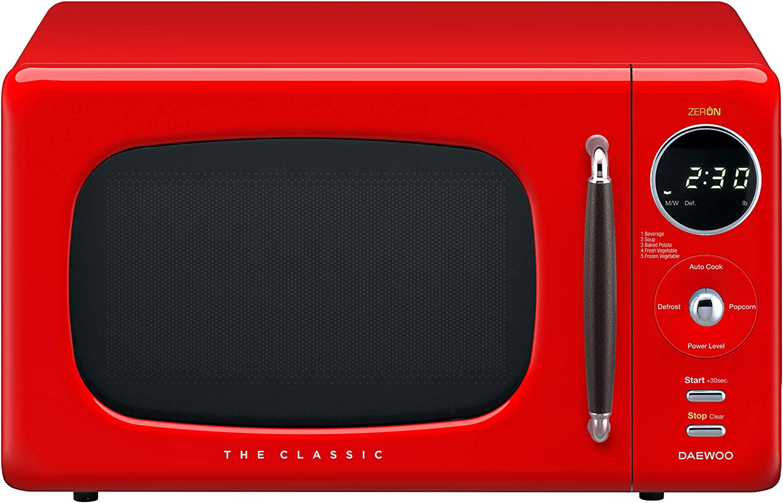 Daewoo KOR07R3ZER Microwave, 0.7 Cu.Ft, Red