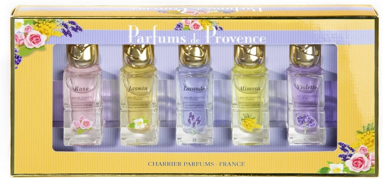 Charrier Parfums De Provence - Estuche de 5 aguas de colonia en miniatura total 54 ml: Amazon.es: Belleza