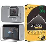 Jasinber 2-Pack Mica de Vidrio Cristal Templado para GoPro Hero 7 Silver/White (Hero 7 Silver/White)