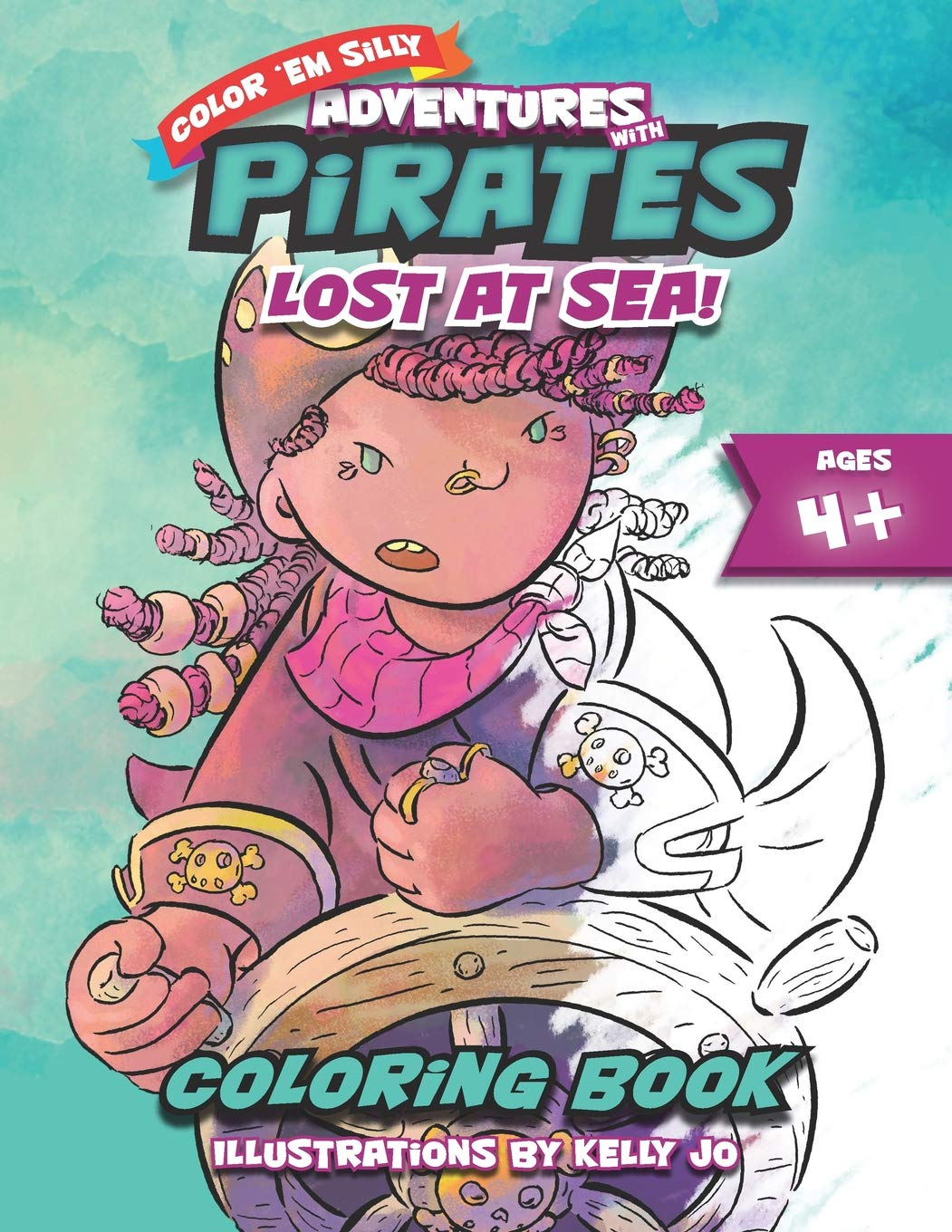 Adventures With Pirates - Lost at Sea!: Coloring Book for ...