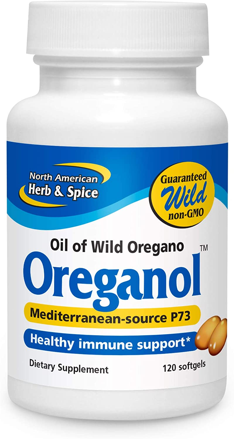 North American Herb Spice Oreganol P73 120 Softgels Immune System Support Unprocessed Vegan Friendly Wild Oregano Mediterranean Source Non Gmo 120 Servings Health Personal Care