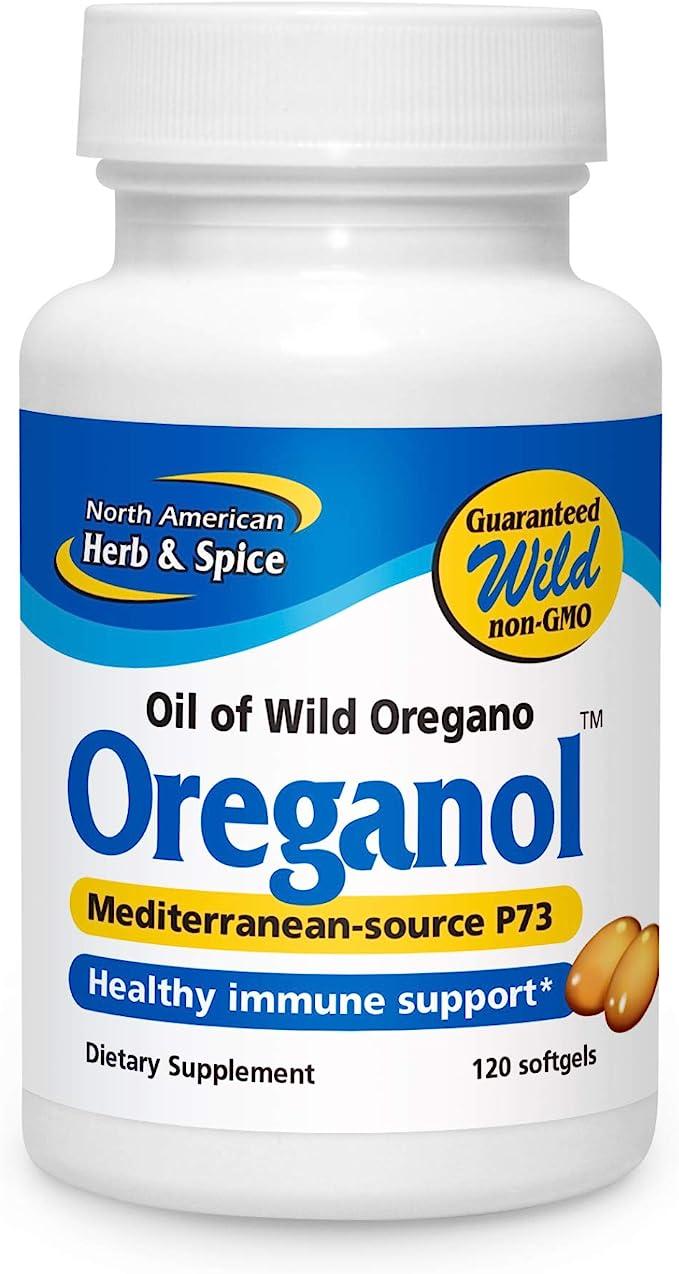 North American Herb Spice Oreganol P73 120 Softgels Immune System Support Unprocessed Vegan Friendly Wild Oregano Mediterranean Source Non Gmo 120 Servings Health Personal Care