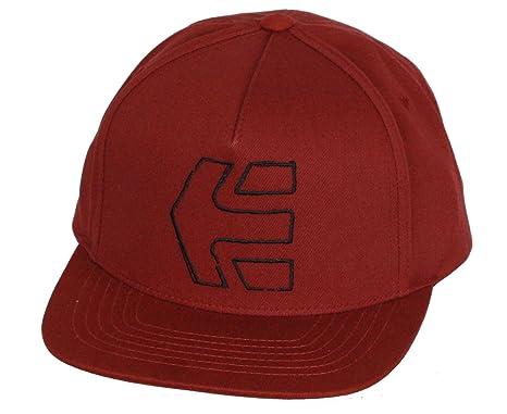 Etnies Snapback Cap ~ Icono de boceto borgoña: Amazon.es: Ropa y ...