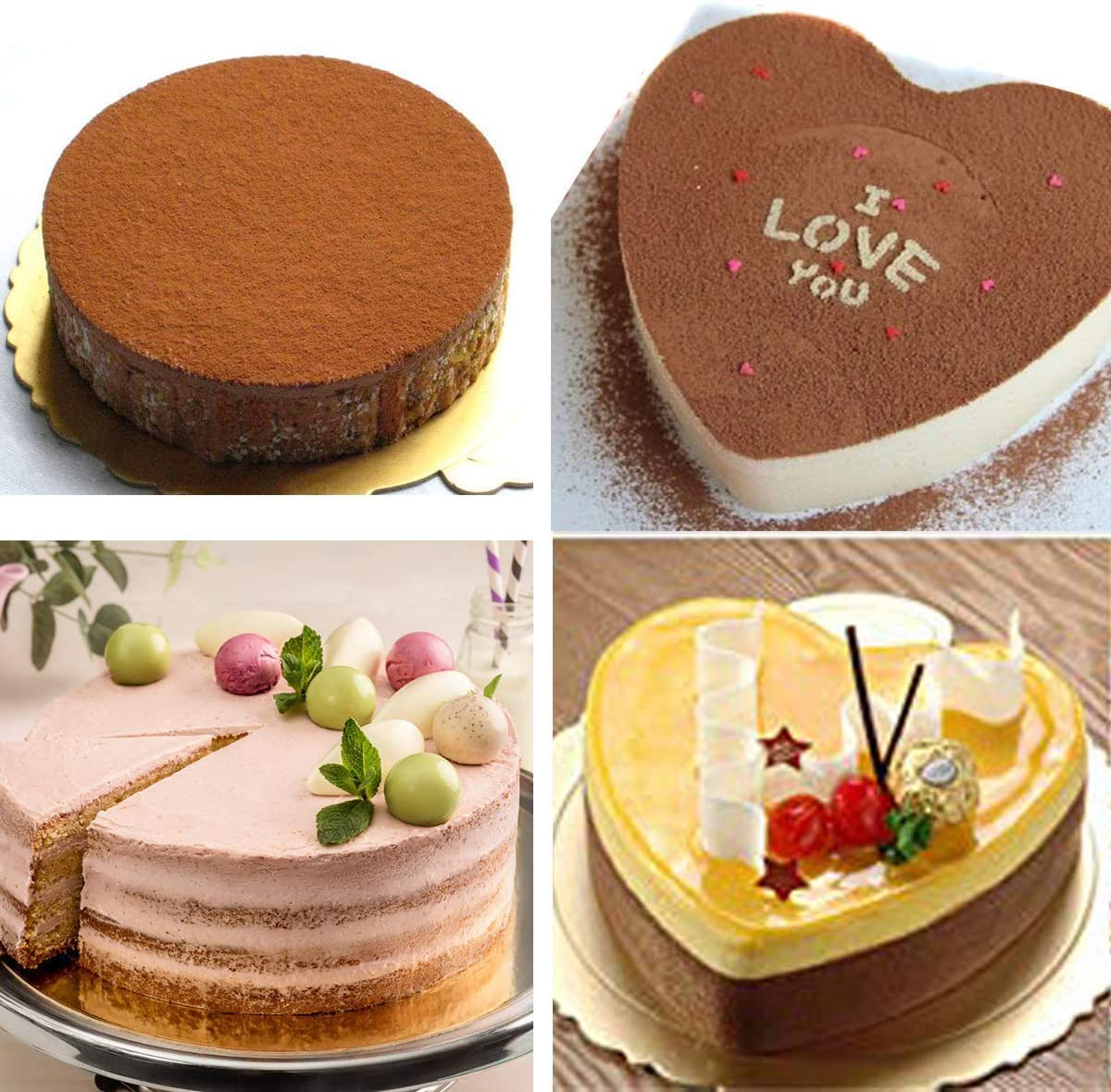 Backform Silikon Herzform Kuchen backen Torte Brot Form
