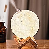 Lámpara de luna en 3D, SUMLINK con de Diámetro Conexión USB Con 3 Colores a Elegir Luz de Ambiente Perfecta para…