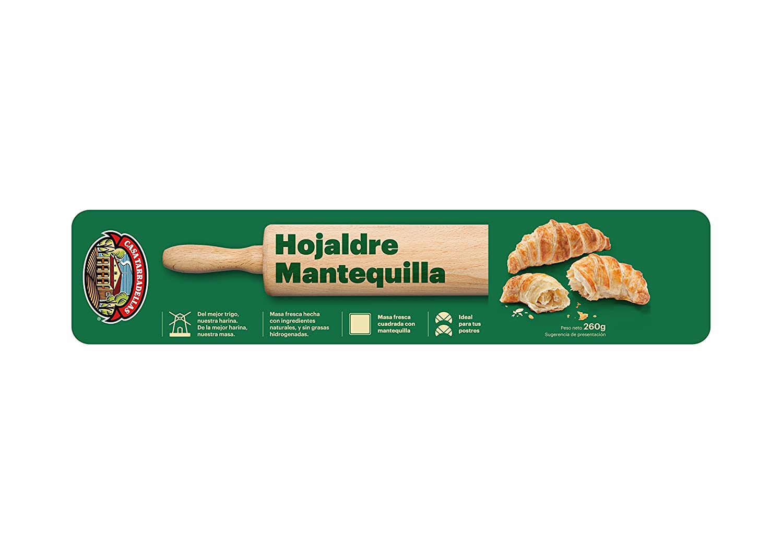 Casa Tarradellas Masa Fresca Hojaldre con Mantequilla - 260 ...