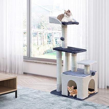 MC Star Árbol para Gato con Rascador de 100cm,Arañazo Juguete de Gatos de Natural Sisal,Gris&Beige: Amazon.es: Productos para mascotas