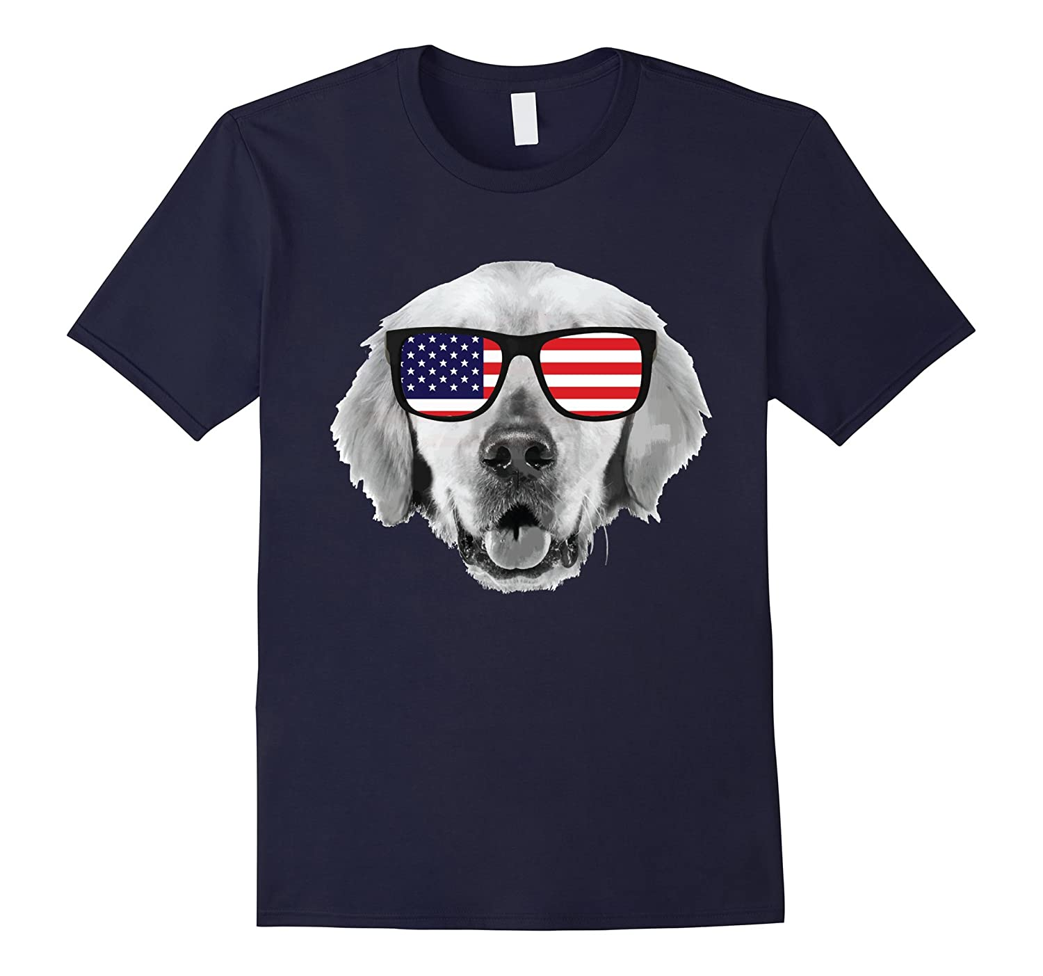 Labor Day T shirt USA Patriotic Dog Pappy American Flag-BN